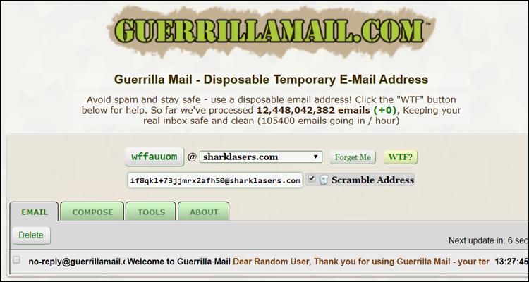 Guerrilla Mail, un servicio de correo temporal para evitar spam #DoctorHosting