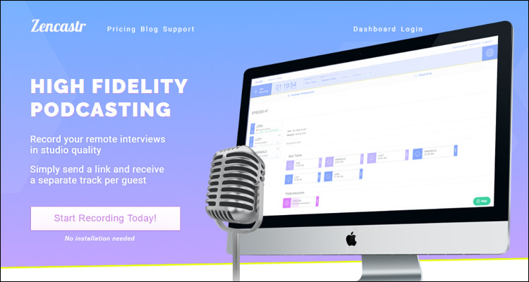 Zencastr, app que graba llamadas para podcasts con calidad #DoctorHosting